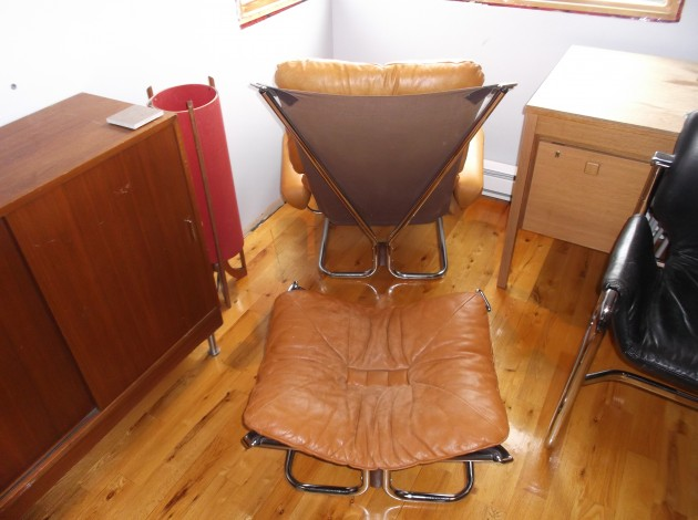 Westnofa lounge chair and ottoman